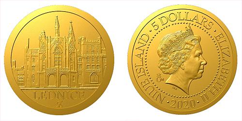 Zlatá mince Zámek Lednice