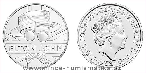 2020 - 5 £ - Pamětní mince Elton John
