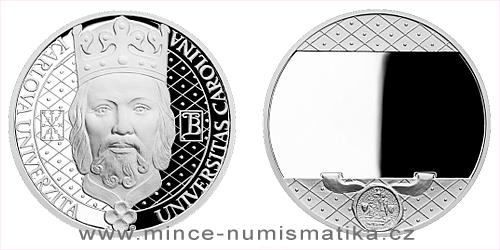 Stříbrná absolventská medaile - Karlova univerzita s věnováním