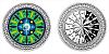 Stříbrná medaile Mandala - Zdraví