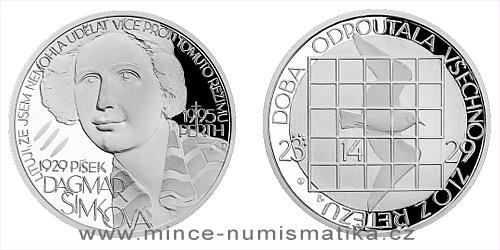 Stříbrná medaile Národní hrdinové - Dagmar Šimková