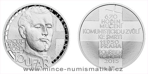 Stříbrná medaile Národní hrdinové - Josef Toufar
