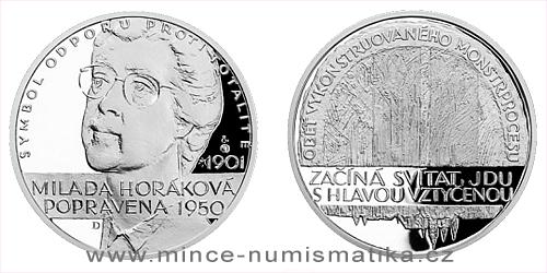 Stříbrná medaile Národní hrdinové - Milada Horáková