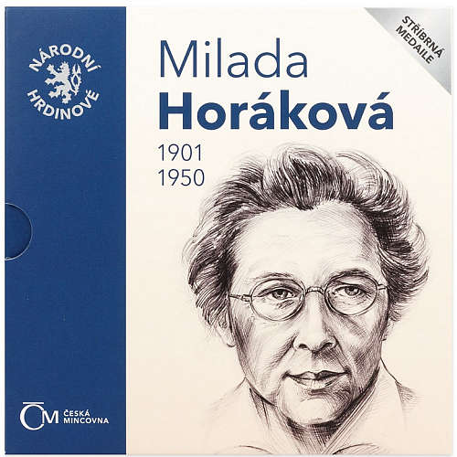 2020_Ag_medaile_Narodni_hrdinove-Milada_Horakova_proof_blistr_1