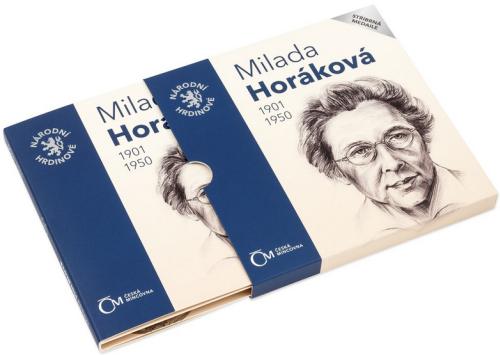 2020_Ag_medaile_Narodni_hrdinove-Milada_Horakova_proof_blistr_2