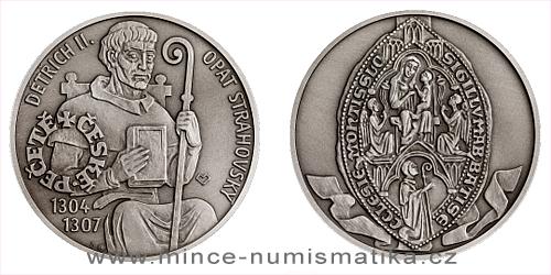 Stříbrná medaile České pečetě - Opat Strahovského kláštera v Praze