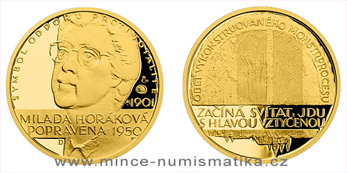 Zlatý dukát Národní hrdinové - Milada Horáková