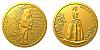 Zlatá půluncová medaile Božena Němcová