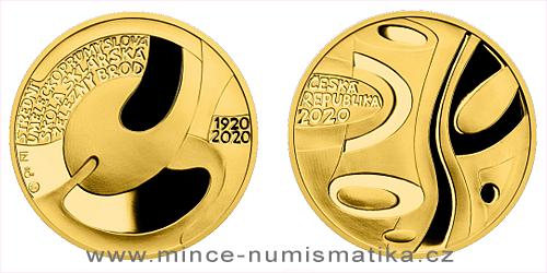 Zlatá půluncová medaile Založení SUPŠ sklářské v Železném Brodě