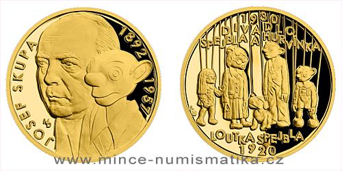 Zlatá uncová medaile Příběhy naší historie - Loutka Spejbla