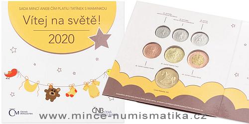 Sada oběžných mincí ČR 2020 - Narození dítěte
