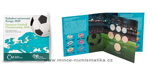 Sada oběžných mincí ČR 2020 ME ve fotbale