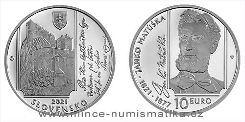 10 € - 200. výročie narodenia - Janko Matúška