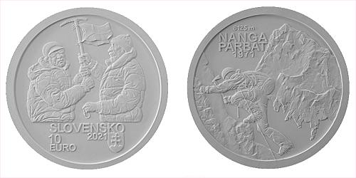 10 € - 50. výročie Zdolanie prvej osemtisícovej hory (Nanga Parbat) slovenskými horolezcami