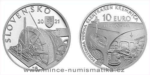 10 € - 100. výročie - Uvedenie do prevádzky podzemnej vodnej elektrárne v Kremnici