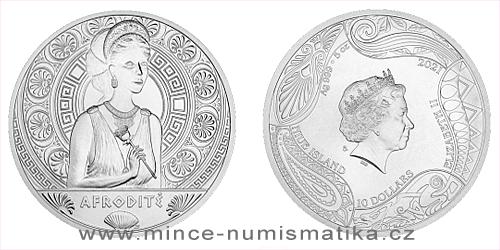 Stříbrná mince Bohyně světa - Afrodíté