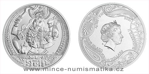Stříbrná mince Bohyně světa - Kálí
