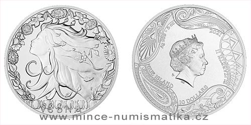 Stříbrná mince Bohyně světa - Vesna