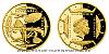 Zlatá čtvrtuncová mince Polárníci - Dobytí severního pólu