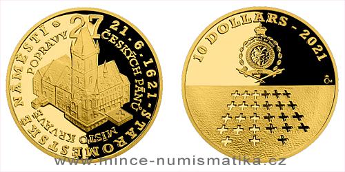 Zlatá mince Staroměstská exekuce - Staroměstské náměstí