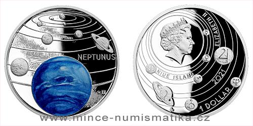 Stříbrná mince Sluneční soustava - Neptun