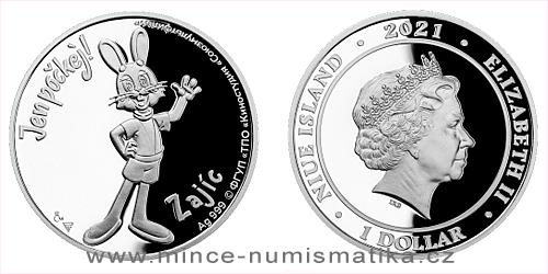 Stříbrná mince Jen počkej! - Zajíc