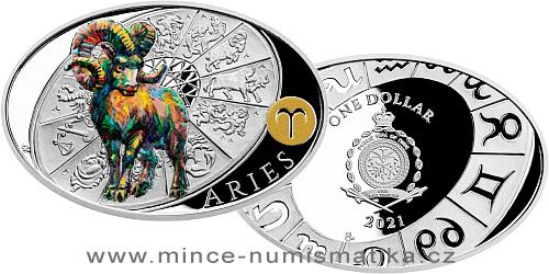 Stříbrná mince Znamení zvěrokruhu - Beran