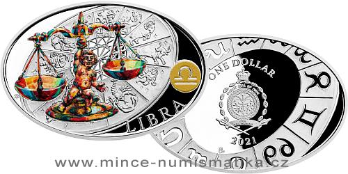 Stříbrná mince Znamení zvěrokruhu - Váhy