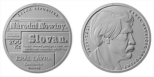 200 Kč - 200. výročí narození - Karel Havlíček Borovský