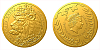 Zlatá pětiuncová investiční mince Český lev 2021