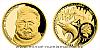 Zlatá půluncová mince Ernest Hemingway