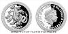 Stříbrná mince Bájní tvorové - Hydra