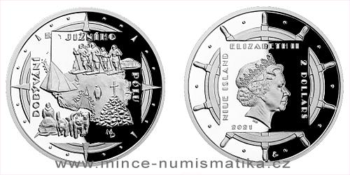 Stříbrná mince Polárníci - Dobytí jižního pólu
