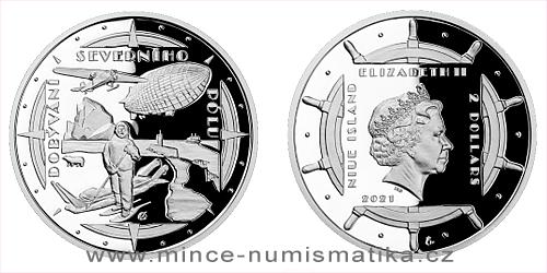 Stříbrná mince Polárníci - Dobytí severního pólu