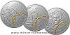 Sada tří stříbrných mincí Sv. Anežka Česká