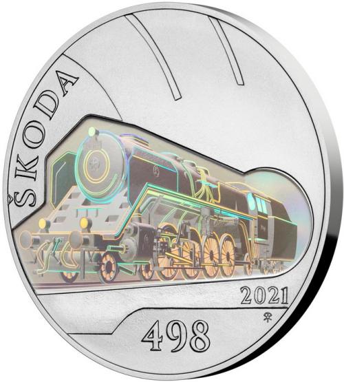 2021_500_Kc_Parni_lokomotiva_Skoda_bk_mince