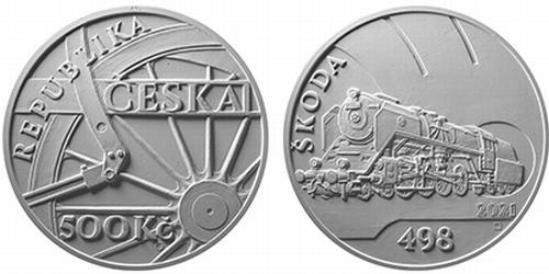 500 Kč Parní lokomotiva Škoda 498 Albatros
