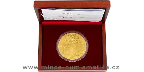 Zlatá desetiuncová investiční mince Český lev 2021