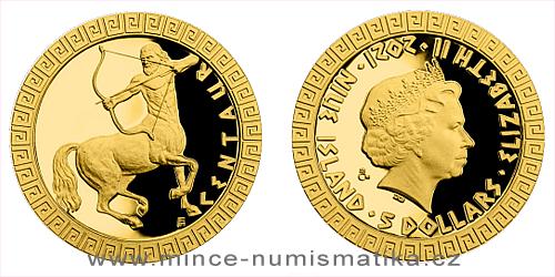 Zlatá mince Bájní tvorové - Kentaur