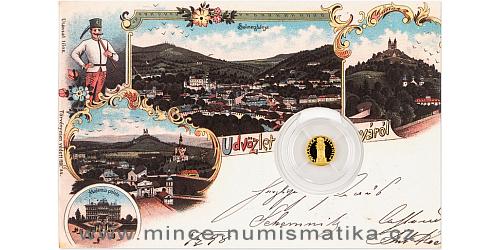 Zlatá mince Banská Štiavnica - Morový sloup SK