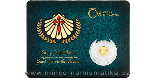 Zlatá mince Patroni - Svatý Jakub