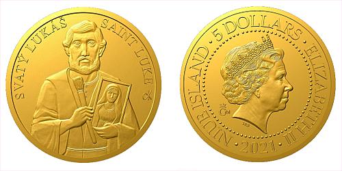 Zlatá mince Patroni - Svatý Lukáš