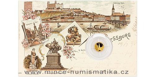 Zlatá mince Bratislava - Michalská brána SK