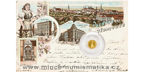 Zlatá mince Olomouc - Sloup Nejsvětější Trojice