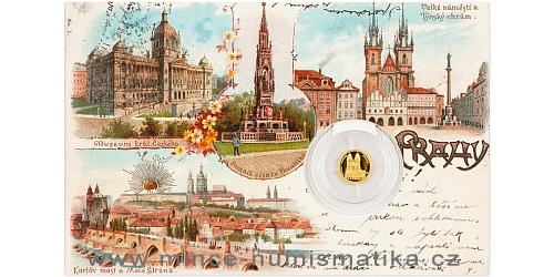 Zlatá mince Praha - Týnský chrám