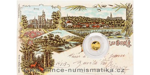 Zlatá mince Zámek Hluboká nad Vltavou