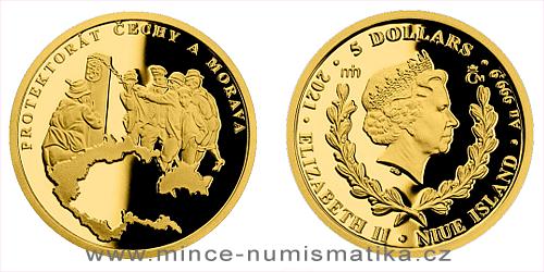 Zlatá mince Válečný rok 1939 - Protektorát Čechy a Morava