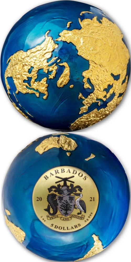 2021_5_dollars_Barbados_Ag_Blue_Marble_Earth_gilded_2