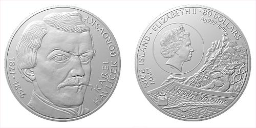 Stříbrná kilogramová mince Karel Havlíček Borovský