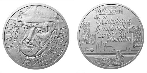 Stříbrná medaile Národní hrdinové - Karel Hašler